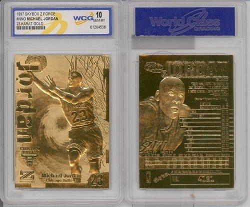 (1997 Michael Jordan 23k Gold Cards Gem-mint)