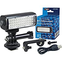 Vidpro LED-M52 LED Video Light for GoPro, Action Cameras & Smartphones