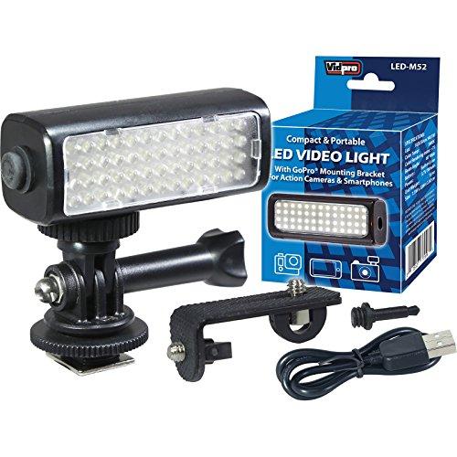 Vidpro LED M52 Video Light 5600K for GoPro, Action Cameras