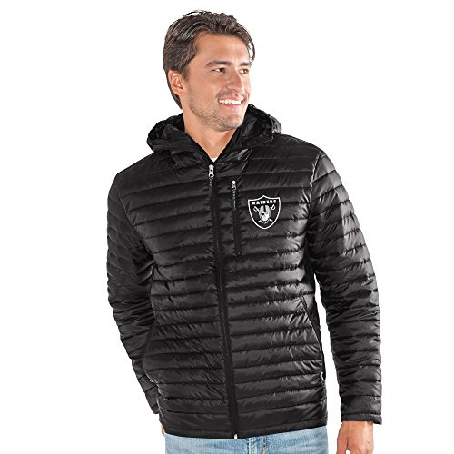 G-III Sports NFL Oakland Raiders Equator Quilted Jacket, Large, ()