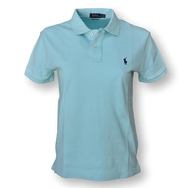 Polo Ralph Lauren Women\u0027s Classic Fit Mesh Polo Shirt, Parakeet, Small