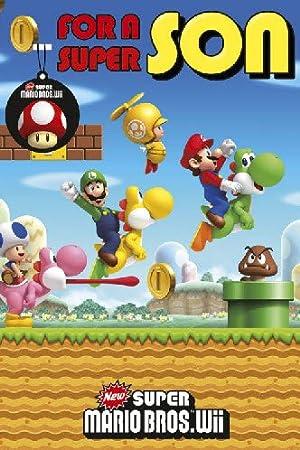 Super Mario Bros Son Birthday Card Amazon Toys Games