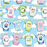 Jillson Roberts 6-Roll Count Baby Shower Gift Wrap Available in 5 Different Designs, Onesies Twosies
