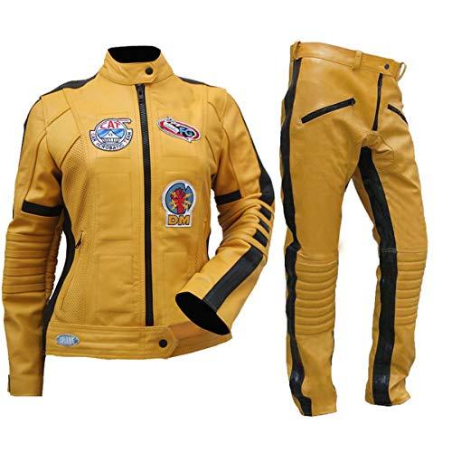 Womens Kill Bill Uma Thurman Cosplay Costume Biker Leather Pants