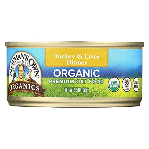 Newmans Own Organics Grain Free Turkey and Liver Cat Food, 5.5 Ounce - 24 per case. (Newman Own Cat Food)