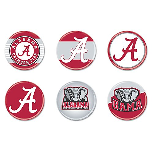 - NCAA University of Alabama WCR90370010 Round Button (6 Pack), 2