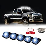 07 f150 smoked headlights - Carrep Smoked Cab Marker Top Roof Side Marker Light Lamps W/9 Super White LED Bulbs (5pcs Smoked Cab+ Wiring Pack)