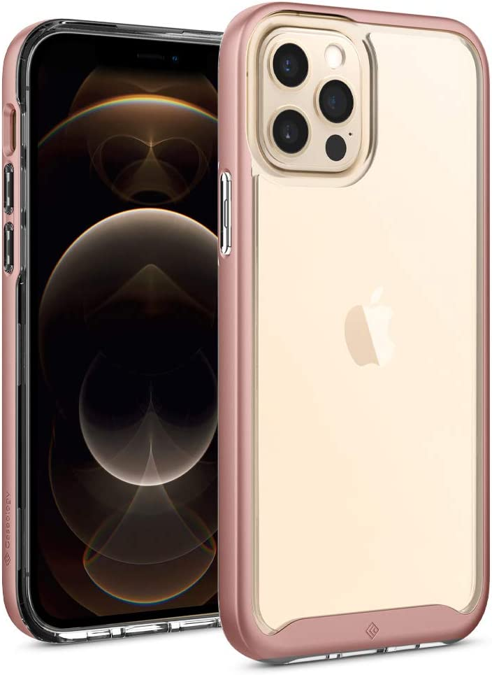 Caseology Skyfall Compatible with iPhone 12 Pro Case Compatible with iPhone 12 Case (2020) - Rose Gold