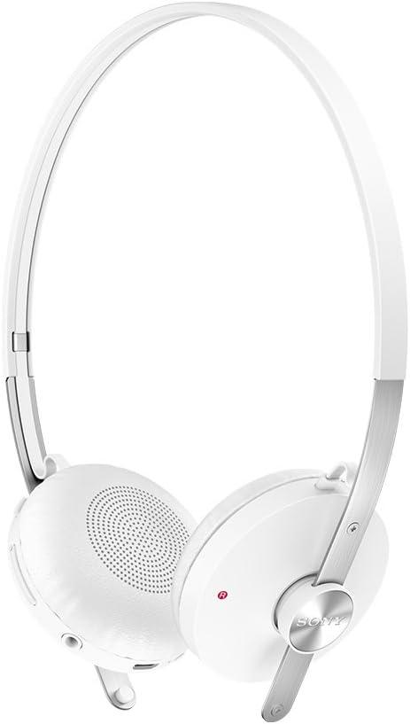 Sony Premium Wireless On-Ear Lightweight Splash-Proof Noise Isolating Bluetooth Stereo Headset (White)