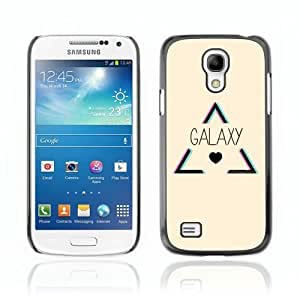 Designer Depo Hard Protection Case for Samsung Galaxy S4 Mini / Hipster Triangle Galaxy