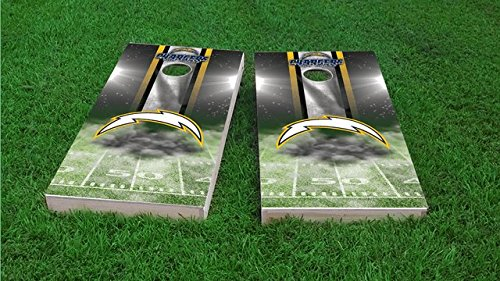 Tailgate Pro's San Diego Home Field Cornhole Boards, ACA Corn Hole Set, Comes with 2 Boards and 8 Corn Filled Bags