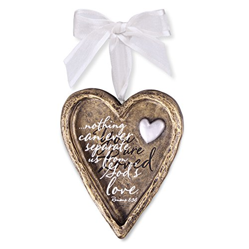 Lighthouse Christian Products You are Loved Resin Heart Christmas Ornament by Lighthouse Christian Products
