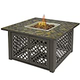 Best Choice Products Gas Outdoor Fire Pit Table Fire Bowl with Cover Slate/Marble Garden Patio Heater For Sale