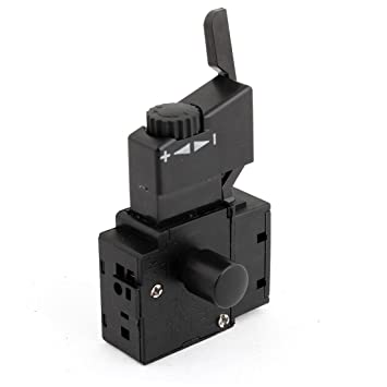 sourcingmap® FA2-6 1BEK DPST on/Power Tool Trigger Lock Button ...