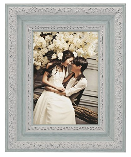 Lilian PC blue photo frames(5 x 7in), Choose PS polymer material environmental protection(4383-A-4S-e) (7 5 Frame X Photo Boy)