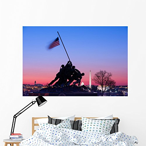 Wallmonkeys Iwojima Memorial Washington Dc Wall Mural Peel and Stick Graphic (60 in W x 40 in H) ()