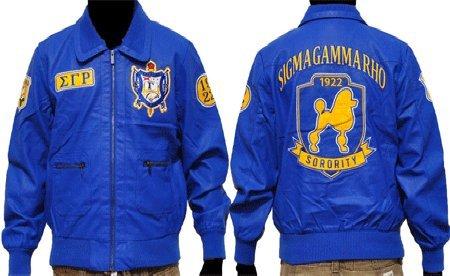 New! Sigma Gamma Rho Sorority Faux Leather Women's Jacket With Zipper XL ()