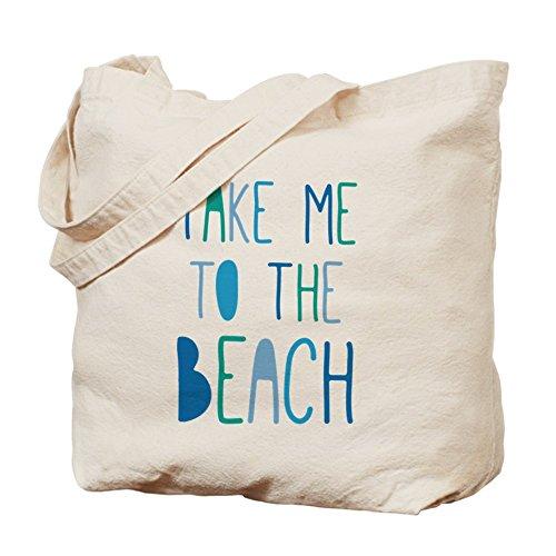 CafePress–Take Me a la Playa–Gamuza de bolsa de lona bolsa, bolsa de la compra