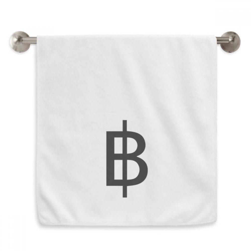 DIYthinker Currency Symbol Thai Baht Circlet White Towels Soft Towel Washcloth 13x29 Inch