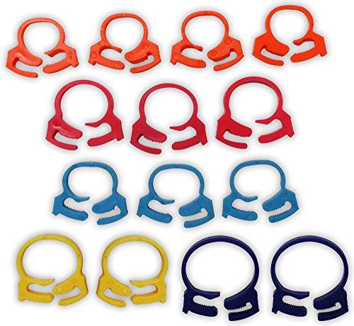 Plastic Hose Clamp (Assorted Plastic Cable-tie/hose-clamp 14-piece)