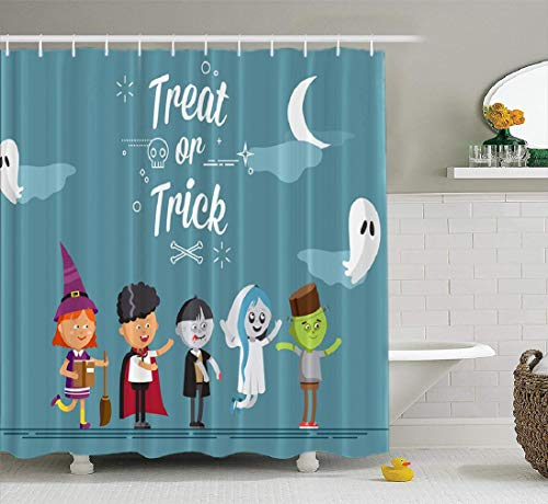 Scary Faerie Costumes - LILYMUA Halloween Shower Curtain, Happy Halloween
