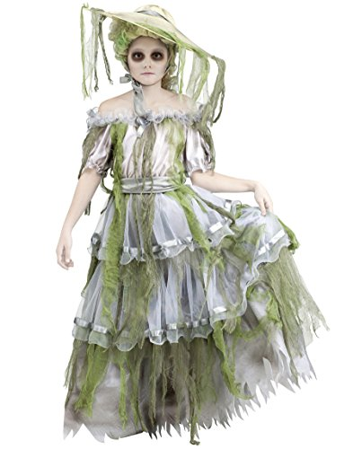 Child Zombie Southern Belle Ghost Bride Costume, Large (Zombie Costumes Women)