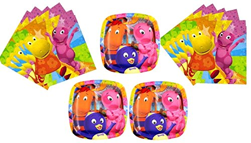 Backyardigans Plate and Napkin Birthday Party Pack 16 Plates 32 Napkins Pocket Plates