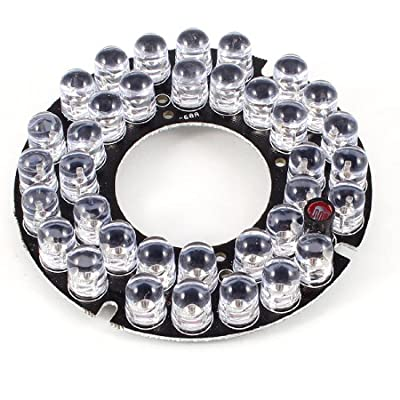 CCTV Security Camera 45 Deg Red 36 LEDs Round IR Infrared Board Plate