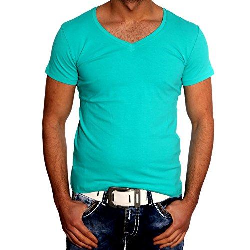 a6fb88cc4e84a7 Herren TShirt Uni Poloshirt Shirt Weiß Gelb Rot Grau Schwarz Grün Khaki  SMXXL, GrößeXXL, FarbeGrün