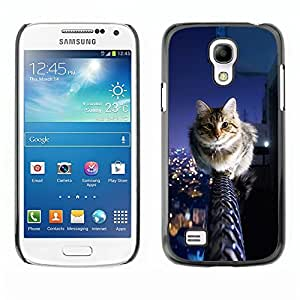 YOYO Slim PC / Aluminium Case Cover Armor Shell Portection //Cool City Cat //Samsung Galaxy S4 Mini