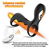 Anplex Vibrating Cock Rings Penis Rings Male Enchantment Cockrings Sets Extender Vibe Erection Enhancer Enhancing Viberate Penisextenders Silicone Vibrator Dick Play Adult Sex Toys Rings for Women Men