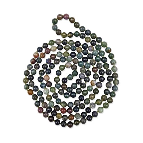 - MGR MY GEMS ROCK! 60 Inch 8MM Polished Genuine Fancy Jasper Multi-Layer Long Endless Infinity Beaded Necklace.