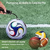 Morpilot Automatic Electric Fast Ball Pump with Needle and Nozzle - Air Pump for Inflatables, Athletic Basketball, Soccer, Volleyball, Football, Sport Ball and Swimming Ring - Faster Inflation