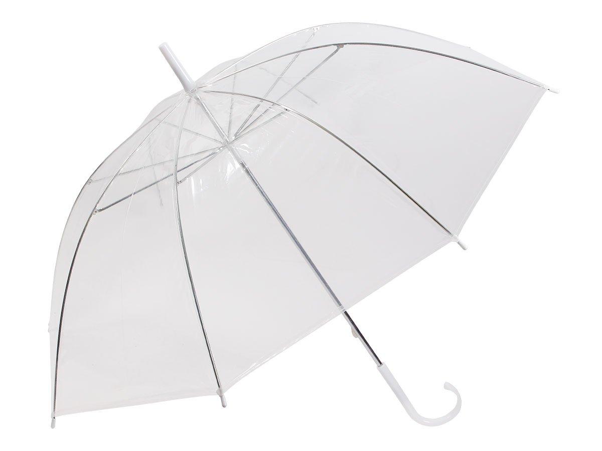Alsino Stockschirm Stock transparent Regenschirm City Schirm Langschirm mit Griff 61/1885 blau