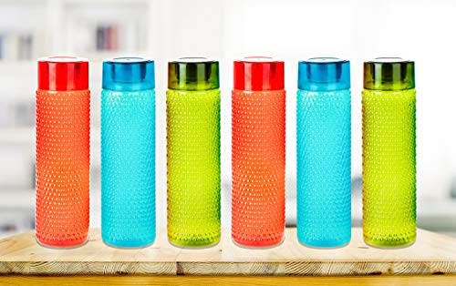 Nexium Exclusive Water Bottles for Fridge School College Office Use Set of 6 (Capacity 1000ml) (6, Multi Colour) Price & Reviews
