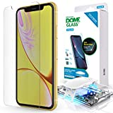 iPhone XR Screen Protector, Full Cover Tempered Glass Shield [Dome Fix] New Slide Easy Install and Repair Kit by Whitestone for Apple iPhone 10R (2018) - 1 Pack