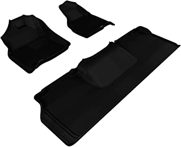 Amazon Com 3d Maxpider Complete Set Custom Fit All Weather Floor Mat For Select Dodge Ram 2500 3500 Models Kagu Rubber Black Automotive