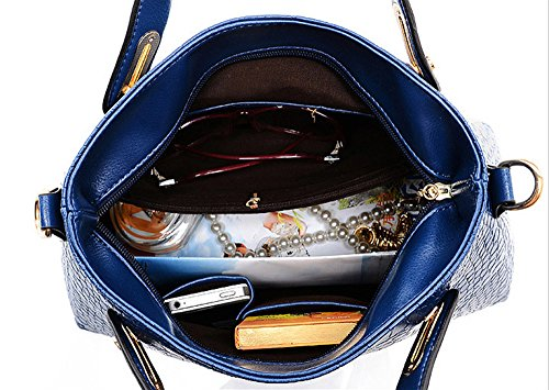 Cher sac Sacs Femme Bandoulière sacs Messenger À Cuir Pas Fourre En Sac sacs tout Femmes Marine Bleu Dodumi Main Pour A Blanc wq7fFxFpWX