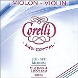 Corelli Crystal 4/4 Violin Set - Medium Gauge with Loop End E