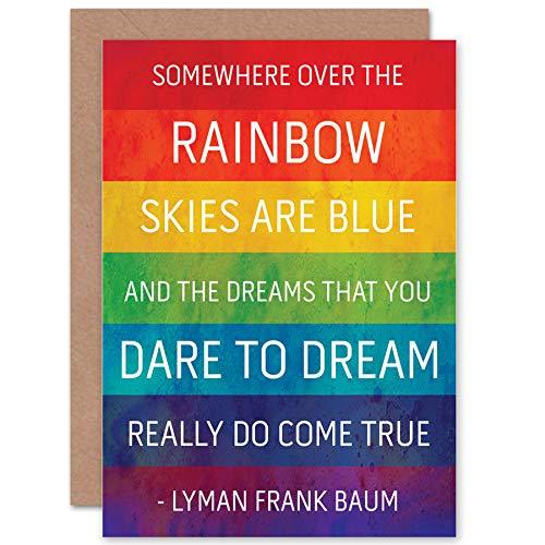 Wee Blue Coo NEW FRANK BAUM RAINBOW WIZARD OZ COLOURFUL GREETINGS BIRTHDAY CARD ART CP059 ()