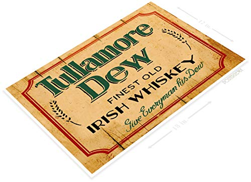 PosterGlobe Poster C235 Tullamore Dew Whiskey Rustic Retro Bar Pub Beer Brewery Sign Cottage Cave 12
