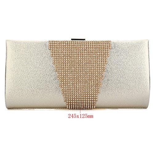 YYW Glitter Clutch Bag - Cartera de mano para mujer dorado