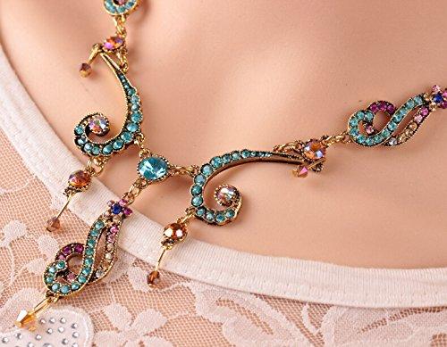 Court paragraphe Fashion bohème ethnique motif rétro - Collier plein de Diamant Beach pendant X610
