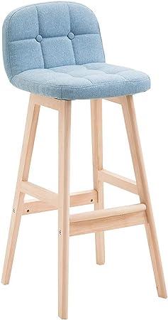 QQXX Chaise de Bar en Tissu à Armature en Bois, Tabouret de