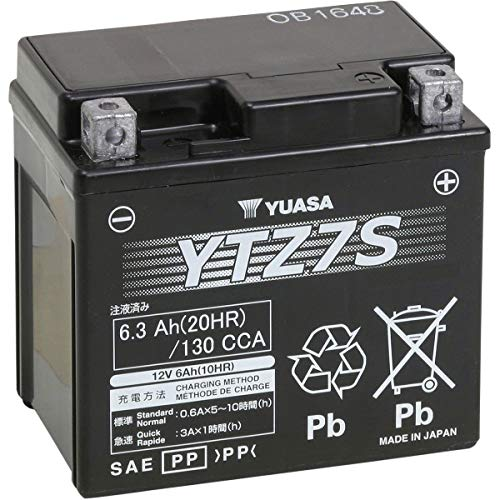 Batteria Yuasa YTZ7S originale Yamaha 5TJ821000100 Misure 113 x 70 x 105 mm