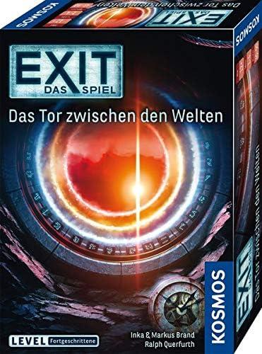 Das Tor zwischen den Welten Level: Fortgeschrittene einmaliges Event-Spiel Kosmos 695231 EXIT spannendes Gesellschaftsspiel Das Spiel Escape Room Spiel f/ür 1 bis 4 Spieler ab 12 Jahre