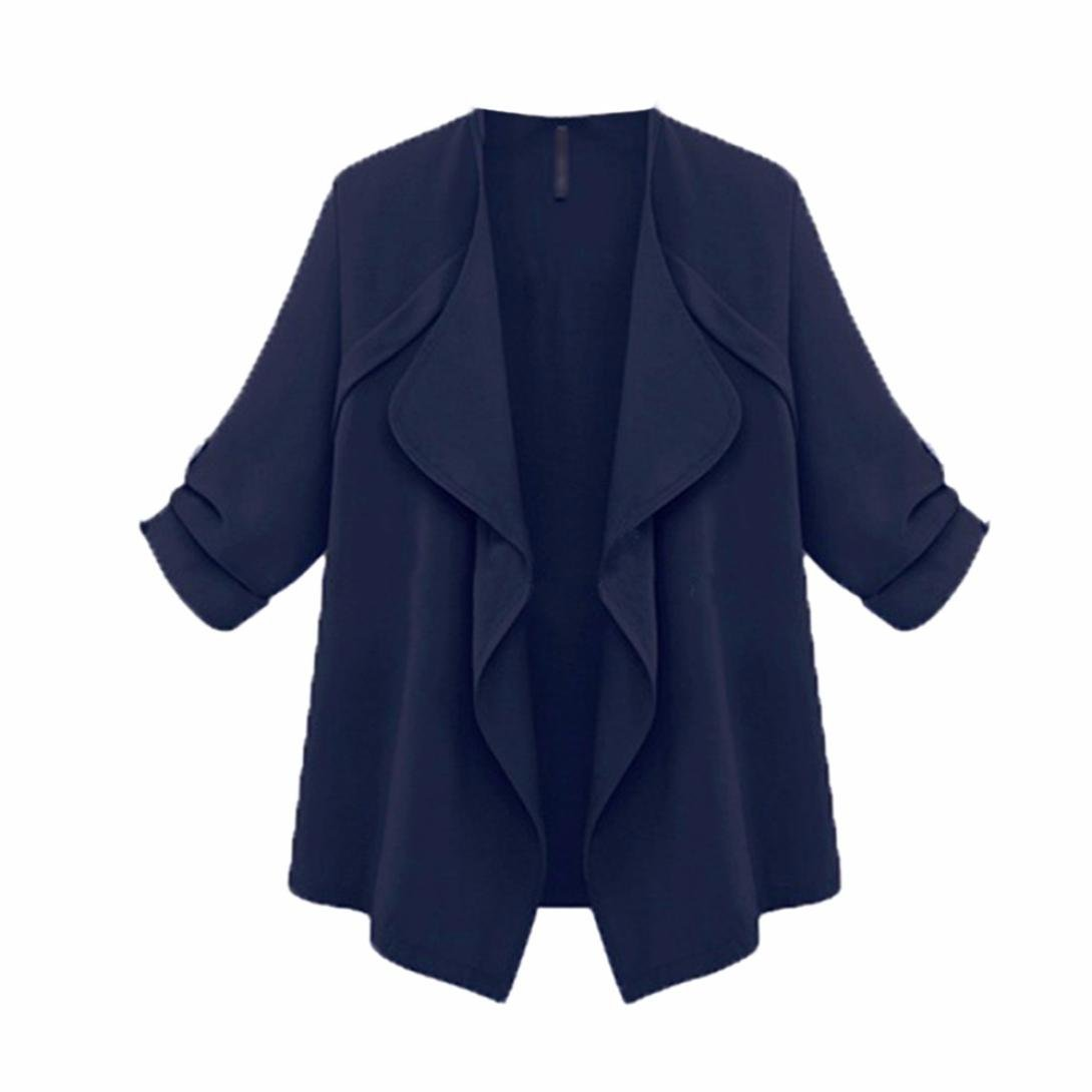 Yukong Jacket Cardigan, Women Cuffed Sleeve Open Cape Jacket Irregular Cardigan Coat Outwear Tops JX-0334