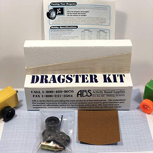 Balsa Co2 Dragster Car Kit LSRAV/Metric - Wooden Project Kit for Building a Drag Racing Co2 Powered Car - Create and Race Your Own Fast Dragster - Great for Student Classroom Projects