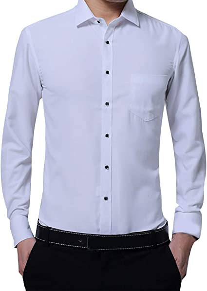 Camisas de Hombre Slim Fit Elegante, Hombre Moda Business ...