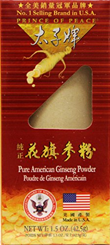 Prince of Peace 100% Wisconsin American Ginseng Powder (Panax Quinquefolium), Gift Box 1.5oz For Sale